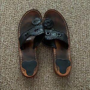 Black Jack Rogers Jacks Sandals